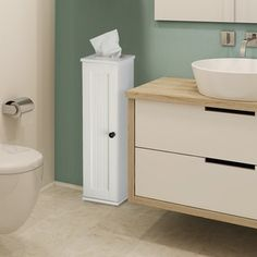 Shop for Adeco White Finish Single Door Wall Cabinet. Get free delivery at…