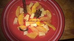 """La salade d'orange maltaise au sirop épicé de Ludmilla du blog """"Les délices de Loulou"""" inspirée du blog """"Aime et mange"""""""
