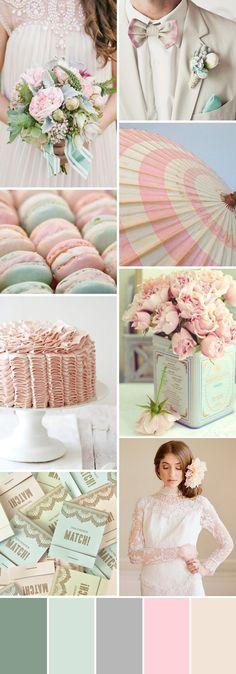 Un matrimonio di colori pastello? Perchè no?! Ospiti e sposi in toni tenui per una giornata da favola! www.santinopuntomoda.it