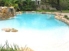 48 Stunning Backyard Beach Pool Design Ideas