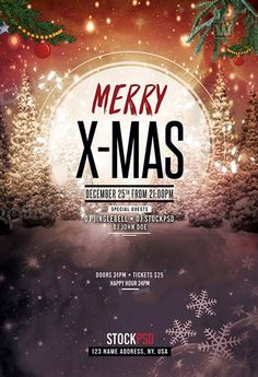 Merry X-Mas 2017 Free Flyer Template - http://freepsdflyer.com/merry-x-mas-2017-free-flyer-template/ Enjoy downloading the Merry X-Mas 2017 Free Flyer Template created by Stockpsd! #Christmas, #Club, #Dj, #Event, #Nightclub, #Party, #XMas, #Xmas