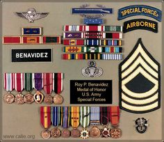 Military ribbons, medals of Master Sergeant Roy Benavidez, Medal of Honor recipient