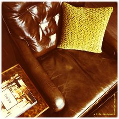VINTAGE LEATHER CHAIR + OTTOMAN A little vintage leather retro love just added to the ALD online store! - $595 @ www.randysloan.com