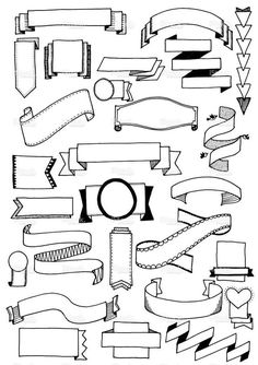drawn vector doodle banners, quirky and fun banner clip art. Hand drawn vector doodle banners, quirky and fun banner clip art.Hand drawn vector doodle banners, quirky and fun banner clip art.
