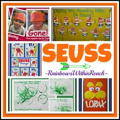 "Dr. Seuss Projects RoundUP via RainbowsWithinReach. Come LINK-UP your Seuss ideas at the ""Hop-on-Seuss"""