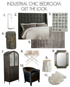 Industrial Chic Bedroom Inspiration Board