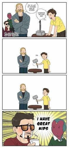 Friend sent me this, unsure who made it originally. Friend sent me this, unsure who made it originally.,Avengers Friend sent me this, unsure who made it originally. Related posts:The Marvel Cinematic Universe explainedMarvel's Avengers Humor, The Avengers, Marvel Jokes, Funny Marvel Memes, Dc Memes, Meme Comics, Funny Memes, Funny Sayings, Marvel Dc Comics