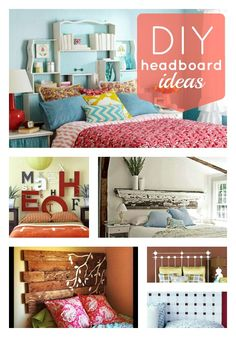 Headboards--love the chalkboard and the storage ones! diy