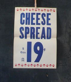 Vintage Grocery Poster 1940s