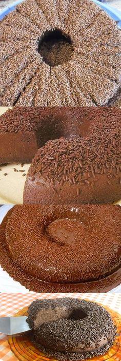 Brigadeirão Rápido E Fácil Confectionery, Easy, Bread, Desserts, Recipes, Flan, Chocolates, Hairstyle, Fancy Desserts