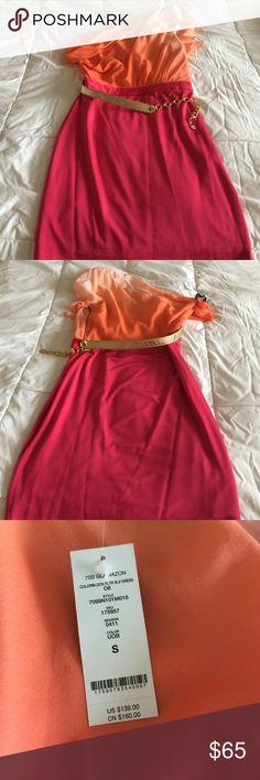 One shoulder dress Brand new one shoulder dress Ombré brand new with tags BEBE bebe Dresses One Shoulder