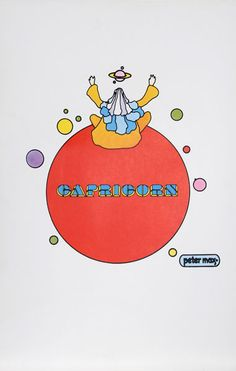 Peter Max Art | Capricorn | Zodiac Illustration | Psychedelic Astrology