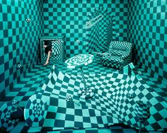 """Young Korean artist Jee Young Lee turns her small studio room into surreal dreamscapes without using photoshop - """"Panic Room"""" Kim Joon, Tiny Studio, Studio Room, Red Studio, Studio Art, Studio Ideas, Illustration Manga, Illustrations, Panic Rooms"""