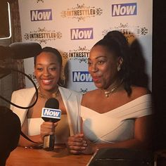 Here's @fashionbyimani and @sueevans_ being interviewed by @nowmag at the @inthestyleuk summer party #itssummerparty #inthestyle #fashion #style