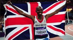 Royal Mail 'next day' Gold medal stamps for Team GB- Mo Farah, men's metres Mo Farah, Team Gb Olympics, Summer Olympics, Royal Mail Stamps, London Olympic Games, Gold Medal Winners, Olympic Gold Medals, London Photos, A Team