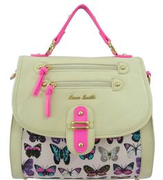 Ladies Anna Smith Designer Butterfly Crossbody Tote Studs Satchel Handbag Lydc