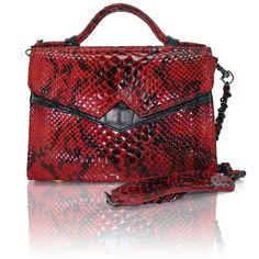 Handbag / ZASHADU / TKO Mini Red Snake Print