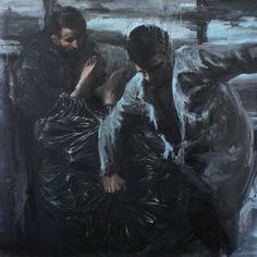Yousef Korichi , 2010, sans titre, huile sur toile,  200 x 200cm