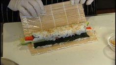 sushi at home for less than three bucks. And, it's easier than you might think. Sushi At Home, Asian Recipes, Healthy Recipes, Great Recipes, Favorite Recipes, How To Make Sushi, Homemade Sushi, Budget Meals, Japanese Food