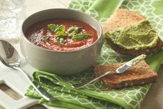Tomato Soup and Avocado Toasts | #weightloss #health #fitness #warm #fall #winter #healthy #recipes