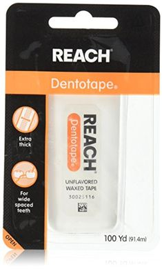 REACH Dentotape Waxed Tape, Unflavored 100 Yards (Pack of Reach Dentotape has an extra-wide cleaning surface, making it more effective for plaque removal from larger spaces. Reverse Cavities, How To Prevent Cavities, Causes Of Mouth Ulcers, Guy, Oral Surgery, Dental Floss, Oral Hygiene, Teeth Cleaning, Oral Health