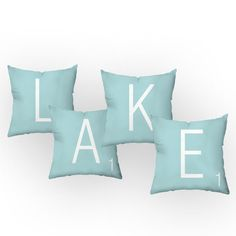 Checkerboard, Ltd Letters of the Lake Throw Pillow
