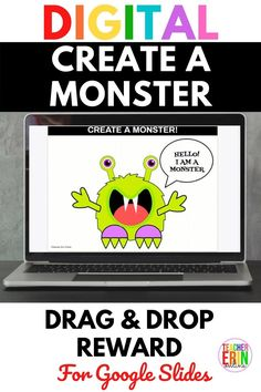 This Create A Monster digital interactive reward is a perfect Halloween party game activity, behavior management tool, Fun Friday activity, or brain break reward for your students. Build a monster piece by piece! Includes over 60 monster pieces for tons of monster creation options! Positive Behavior Management, Behavior Tracking, Classroom Management, Class Incentives, Classroom Rewards, Activity Games, Activities, Halloween Party Games, Brain Breaks