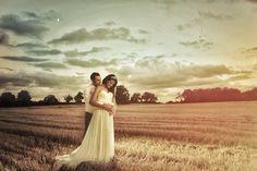 Sunset Country Wedding Tom Halliday Photography - UK Wedding Photographer - Bride - Groom - Wedding - Country Wedding - Landscape