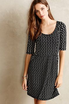 Chevron Panel Dress #anthropologie just actually need this.