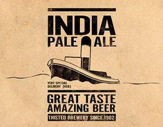 """""""IPA & BBA beer label design"""" http://on.be.net/11SEK4N"""