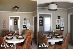 Make a drum pendant ceiling light fixture coverup that won't compromise your relationship with your landlord. | 37 Ways To Disguise The Ugliest Parts Of Your Home