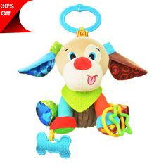 Baby Toys Pram Toys Gift Newborn Baby Infant Stroller Toys Washable Squeaker Car Toys, Kids Hanging Toy for Crib with Teethers (Dog) Pram Toys, Doll Toys, Baby Toys, Kids Toys, Mobiles, Baby Musical Mobile, Pet Monkey, Baby Christmas Gifts, Activity Toys