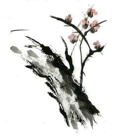 Sumi-e Tree Stump by ~bloozit on deviantART