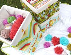 Undercover crates! No more ugly plastic crates with holes in them that let all of your little bits fall through!
