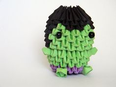3D Origami Hulk by OrigamiProductions on Etsy, $4.00