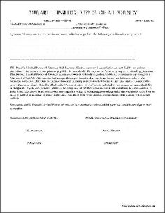 Sample Power Of Attorney Letter Template | malayalimates.com ...