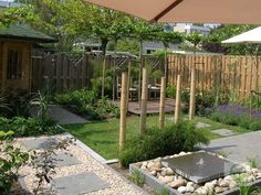 Garden Design Layout - New ideas Little Gardens, Back Gardens, Small Gardens, Outdoor Gardens, Pergola Garden, Backyard Landscaping, Deck Patio, Garden Yard Ideas, Garden Projects