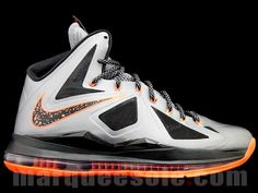 47546bbedf98a3 Another Nike LeBron X colorways is on the horizon. The charcoal total orange  color scheme features mostly charcoal silver on the upper with hits of black  ...