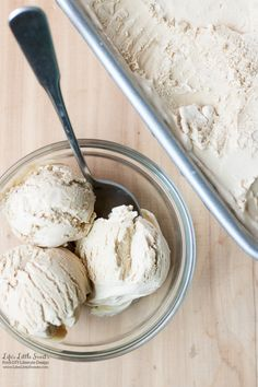 This No-Churn Coffee Ice Cream recipe is an easy, scoopable, 4-ingredient dessert recipe perfect for hot weather. No ice cream churn required! (makes 1 loaf pan)