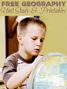 Free Geography Unit Study & Printables!                                                                                                                                                      More