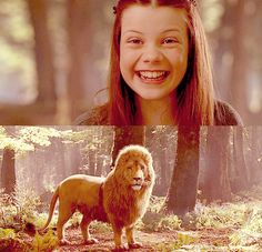 Lucy and her love for Aslan is one of my favorite things about Narnia- reminds me of how i should love God.
