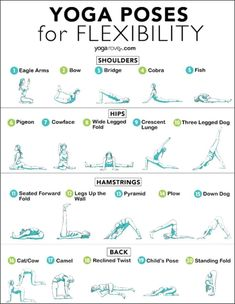 Here are 20 yoga poses for flexibility for beginners. You can do these anywhere … Here are 20 yoga poses for flexibility for beginners. You can do these anywhere and anytime to decrease tension and improve range of motion! Yoga Fitness, Yoga Inspiration, Yoga Meditation, Yoga Position, Yoga Routine For Beginners, Beginner Yoga Workout, Yoga Posen, Relaxing Yoga, Yoga For Flexibility