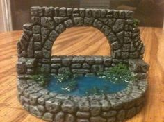 Hirst Art fountain, idea for modular dungeon Christmas Nativity, A Christmas Story, Hirst Arts, Paper Crafts, Diy Crafts, Creative Crafts, Diy Games, Miniature Fairy Gardens, Dungeons And Dragons