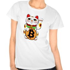 Bitcoin Maneki Neko Lucky Cat 01 Tee Shirt. Bitcoin, you can be your own bank. High resolution Bitcoin logo design just for you. Spread the word of Bitcoin, Vires in Numeris, Strength in Number people's choice crypto currency technology.