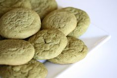 Soft and Chewy green tea cookies