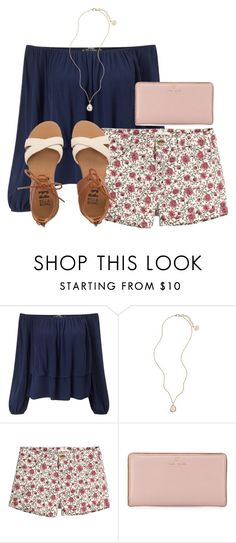 """""""Untitled #716"""" by reaw ❤ liked on Polyvore featuring Miss Selfridge, Kendra Scott, H&M, Kate Spade and Billabong"""