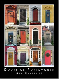 Doors of Portsmouth, New Hampshire. Love these! Great ideas for my future home!