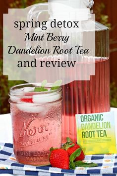 Detox with a mint berry infused dandelion root tea recipe and review.