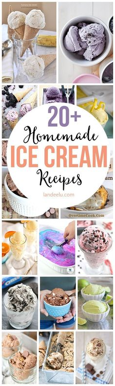 Homemade Ice Cream recipes I'm dying to try! I'm always looking for good dessert recipes!