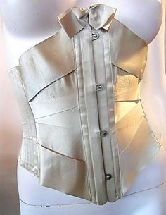 Silk satin underbust ribbon corset, by Royal Worcester of Pennsylvania, American, ca. 1900-1905.